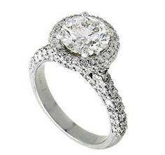 Pierścionki zaręczynowe Vintage, Pave Diamond Rings, współcześni Pierścionki zaręczynowe