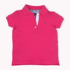 Tommy Hilfiger Girls Fitted Polo - raspberry sorbet (Rose / Paars) - Tommy Hilfiger Polo's - detailbeeld 0