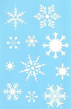 snowflake stencil - Google Search                                                                                                                                                                                 More