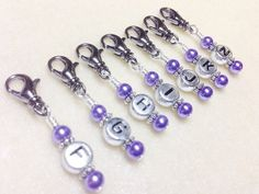 Crochet Stitch Markers, Work in Progress Snag Free Stitch Markers, Crochet Hook Size Markers, Gift for Crocheters, Crochet Supplies, Tools