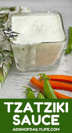 Cool and creamy, Tzatziki Sauce is a tangy yogurt cucumber dip, made with garlic, lemon and dill. This is one the best I've seen