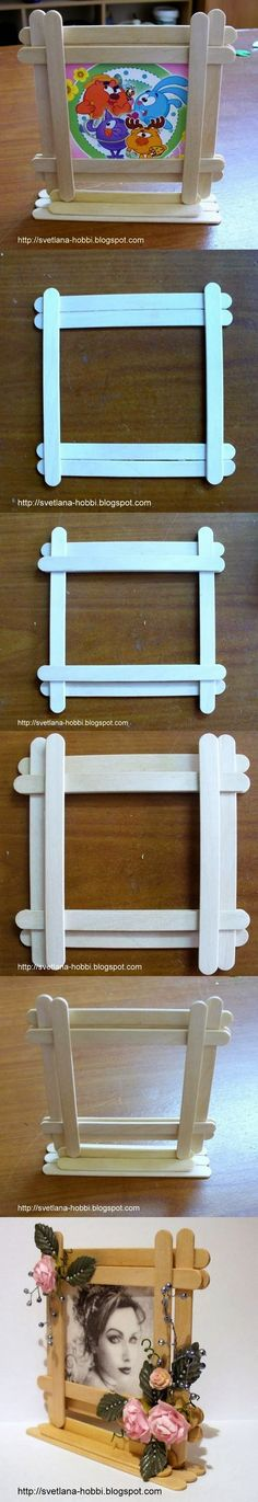 DIY : Easy Popsicles Picture Frame