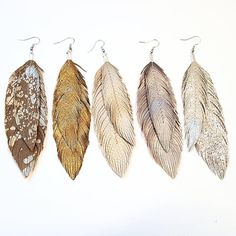 NOW WITH DOUBLE FEATHERS! Lovesexton Original Hand cut and sewn patterns since Large Feathers hand cut from a soft, shiny, lightweight buttery Italian Lambskin leather. Bohemian Jewelry, Diy Jewelry, Jewelery, Jewelry Making, Bohemian Clothing, Punk Jewelry, Skull Jewelry, Yoga Jewelry, Bohemian Gypsy