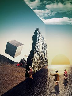 The First Continent - Julien Pacaud • Illustration • Perpendicular Dreams