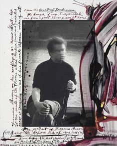 Peter Beard (b. 1938) Collage of his friend and fellow artist, Francis Bacon (1909 - 1992)