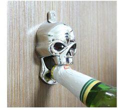 Metal Chrome Skull Wall Mount Bottle Opener Exquisit Beer Opener