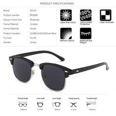 6ce9f91aae7 New Fashion Semi Rimless Polarized Sunglasses Men Women Brand Designer Half Frame  Sun Glasses Classic Oculos