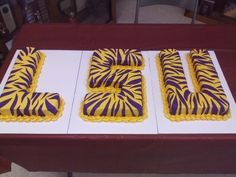 LSU Grooms Cake By deblbrad on CakeCentral.com