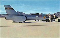 """1964 - Bonneville Salt Flats, Wendover, Utah-Nevada. Craig Breedlove set a world land speed record, in his jet car """"Spirit of America"""" October 15th, 1964 with a two-way average speed of 526.33 miles per hour. The first time man has ever officially driven a car 500 mph."""
