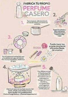cómo fabricar perfume casero