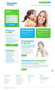 Template 50548 - Babysitter Nanny  Responsive Website Template
