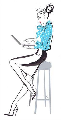 Jacqueline Bissett Illustration Portfolio – Hand Drawing Fashion Illustrator and…