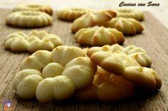 Ricetta pasta frolla montata. Questa ricetta permette di preparare dei fantastici biscottini usando una sac a poche o una pistola spara biscotti