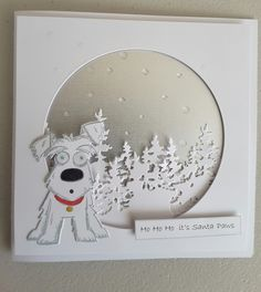 """Tim Holtz Crazy Dog stamp and die.  Would be cute with a """"Have a doggone merry Christmas"""" greeting."""