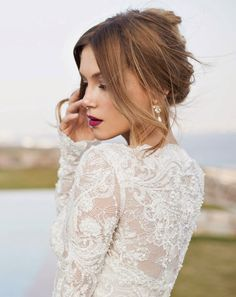 hair and make-up | Orchid Bridal Collection by Julie Vino Spring 2015  | bellethemagazine.com