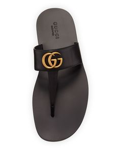Leather Slippers For Men, Mens Slippers, Studded Leather, Leather Men, Sandals Outfit, Men's Sandals, Chelsea Shoes, Baskets, Gucci Brand