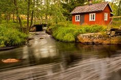 images of swedish red cottages | The red cottage in Sweden / Halland / Simlångsdalen