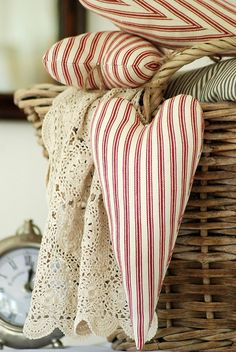 I LOVE anything made with... Ticking! Makes any style complete!