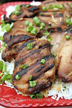 Hawaiian Chicken. A few small details in this recipe yielded big results. This is a new summertime cookout favorite. From the crazy sisters at MadeFromPinterest.net