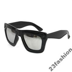 Duże Okulary Czarne Lustrzane London SALE z 25zł
