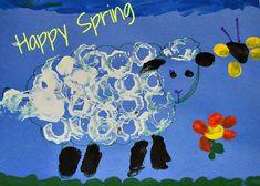 Spring Sheep - Printmaking