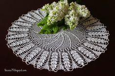 Doily crochet - diameter 38 cm (14,96 inches)