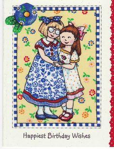 Happiest Birthday Wishes...Mary Engelbreit Hugs, World Famous Artists, Mary Engelbreit, Happy Birthday Wishes, Smash Book, Christmas Elf, Art World, Illustrations Posters, Illustrators