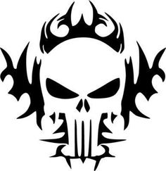 punisher symbol stencil - Google Search