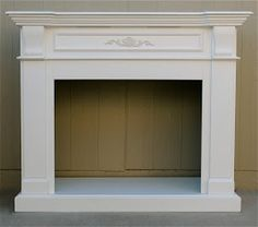 For sale is a beautiful fireplace mantle that has been painted a crisp white. It measures wide x deep x high. This free-s. Shabby Chic Fireplace, Antique Fireplace Mantels, Fake Fireplace, Decorative Fireplace, Bedroom Fireplace, Mantles, Fireplace Ideas, Free Standing Electric Fireplace, Standing Fireplace