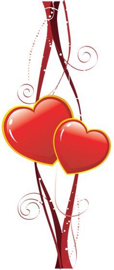 Decorative Hearts Element PNG Clipart