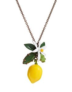 Adorable. This Les Nereides lemon necklace is uplifting just to look at.