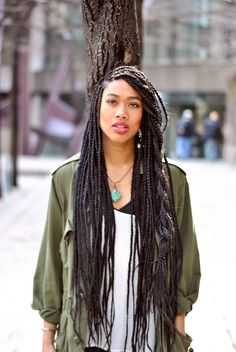 Senegalese twists. I love her whole look!