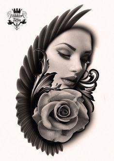 takové ty maličkosti, první kérky a podobné trendy Rose Tattoos, Body Art Tattoos, Sleeve Tattoos, Flower Tattoos, Girl Face Tattoo, Girl Tattoos, Tattoos For Women, Tatoo Design, Forearm Tattoo Design