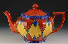 Clarice Cliff  Large 'Original Bizarre' Teapot C.1928