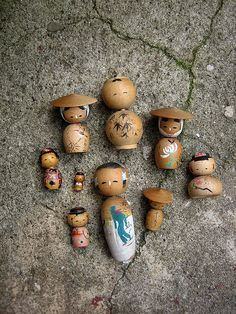 ∷ Variations on a Theme ∷ Collection of  kokeshi dolls