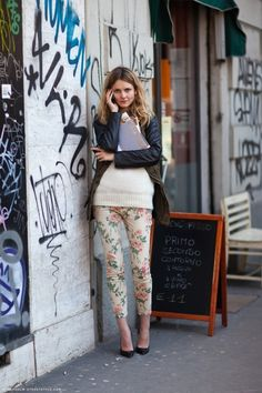 Floral print pants are in! Get used to it!