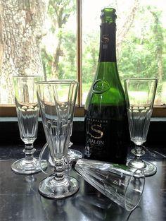 Shadows on the Teche champagne flutes, our most popular model here at Au Vieux Paris Antiques!