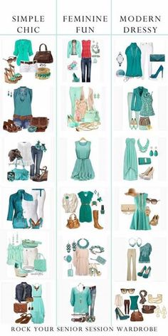 High School Senior Green Rock Your Senior Session Wardrobe Mode Outfits, Casual Outfits, Fashion Outfits, Fashion Tips, Spring Summer Fashion, Spring Outfits, Look Fashion, Fashion Beauty, Style Feminin