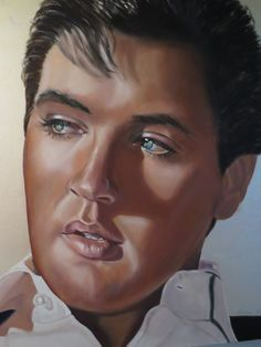 Painting of Elvis by Diana Magrann.