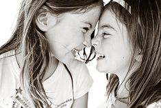 I love this. Wheather they're sisters, cousins or just friends, it's makes me smile!