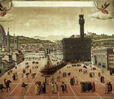 Франческо Росселли (Francesco Rosselli, 1445–1513), Казнь Савонаролы на Площади Синьории 23 мая 1498 года