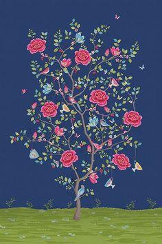 PiP Morning Glory Blauw behang