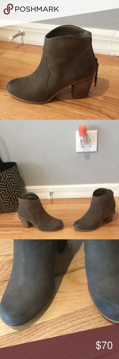 Leather Nordstrom booties Nordstrom taupe leather booties Used condition but very good condition. Size 9. They run a half a size small in my opinion and in many reviews from the Nordstrom site. Great beautiful taupe color that goes with everything. Price firm. Great reviews. Shoes Ankle Boots & Booties