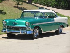 Chevrolet: Bel Bel Air Two Door Hardtop 1956 chevy bel air 2 door hardtop frame off restomod listening to offers trades Classic Car Show, Old Classic Cars, Classic Trucks, 1956 Chevy Bel Air, Chevrolet Bel Air, Volkswagen, Gm Car, Pretty Cars, Automobile