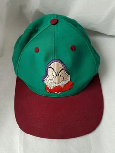 425445f93b3 Snapback DISNEY GRUMPY BALL CAP HAT SNOW WHITE AND SEVEN DWARFS VIDEO  RELEASE  Disney