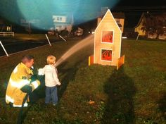 It's a Riley Friday Blast from the Past -- he learned how you put out fires!