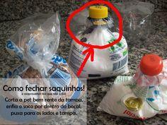 Dica #02: Fechando saquinhos com tampa de garrafa pet