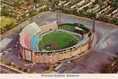 Memorial Stadium, former home of the Baltimore @Orioles, beginning in 1954.