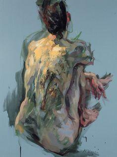 """Alan McGowan (b. 1964, East Kilbride, Scotland) nude, sitting"