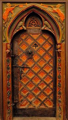 orange in Germany Cool Doors, Unique Doors, Portal, Entrance Doors, Doorway, Door Knobs And Knockers, When One Door Closes, Door Gate, House Doors